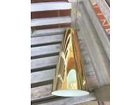 STUNNING GOLD GLASS LAMPSHADES FROM HEALS