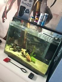 Modern looking fish tank 80l great condition with water purifier