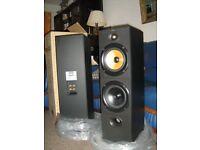 New Bowers & Wilkins Floor Speakers/ B&W DM603/ Black ASH