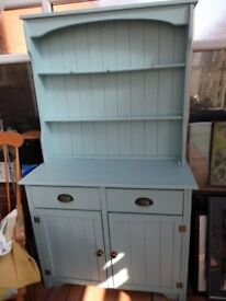A duck egg blue painted dresser