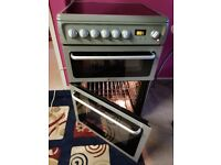 CLEAN SILVER electric fan assisted, grill double oven freestanding cooker HOTPOINT. Delivery