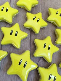 16 x Brand New Sealed - Official Nintedo Super Mario Brothers Star Candies - Sweets / Candy