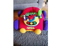 Plush sit in car for baby