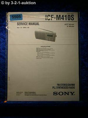 Sony Service Manual ICF M410S PLL Synthesized Radio (#5505) online kaufen
