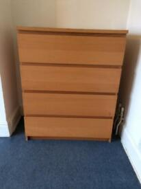 DRAWERS chest of 4 drawers
