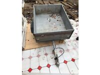 Small Erde 100 Galvanised Car Trailer with cover