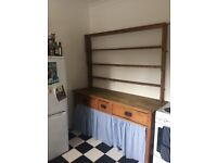 Kitchen Unit Bundle: Antique traditional kitchen dresser, sideboard/buffet and wall mount cupboard