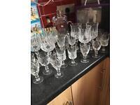 Crystal glasses and jug