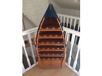 Beautifully made boat wine rack