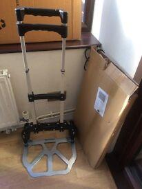 Easy Folding Aluminum Alloy Hand Sack Foldable Travel Luggage Trolley/Cart,