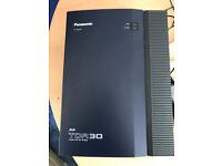Panasonic TDA30 Hybrid IP-PBX With 3 KX-T7630 telephones