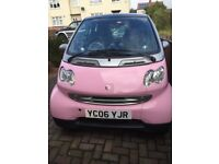 Stunning limited edition baby pink Smart Fortwo coupe car with low miles immaculate condition