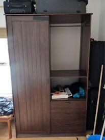 Large double wooden wardrobe