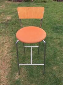 Orange Breakfast Bar Stool