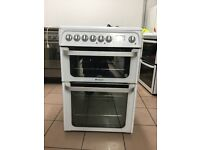 Hotpoint electric cooker 60cm ceramic double oven 3 months warranty !!!!!!!!!!!!!!