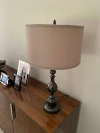 Bronze Colour Metal Lamp and Shade