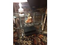 John Lewis Glass/chrome TV Stand