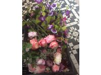 Crate of artificial flowers over 50 stems