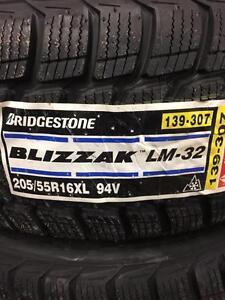4 Brand New Bridgestone Blizzak LM-32 205/55R16.  *** WallToWallTires.com ***