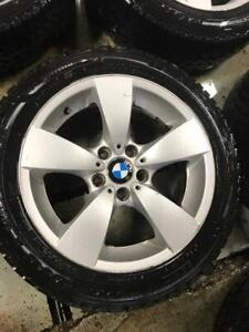 225-50-17 Bmw Rims/Snow GoodYear Tires | 5x120 | 85%Tread On Tires | Clean Rims