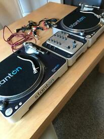 Stanton T.60 Decks & 2 Channel mixer.