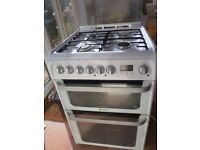 Hotpoint cooker with gas hob and electric oven