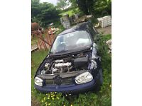 1.9 TDI GOLF ENGINE AND TURBO. WEEK OLD GEARBOX, CLUTCH AND SOLID FLYWHEEL FOR SALE