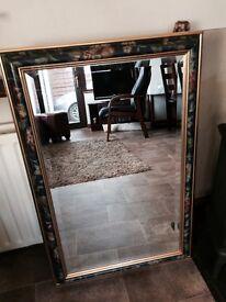 Large gold pattern mirror