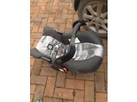 Graco car seat and baby carrier