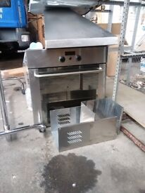 built in oven in stainless steel.