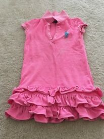 Gorgeous Ralph Lauren Polo Dress - neon pink - aged 4