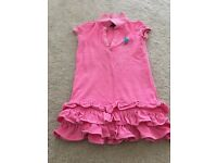 Gorgeous Ralph Lauren Polo Dress - neon pink - aged 4