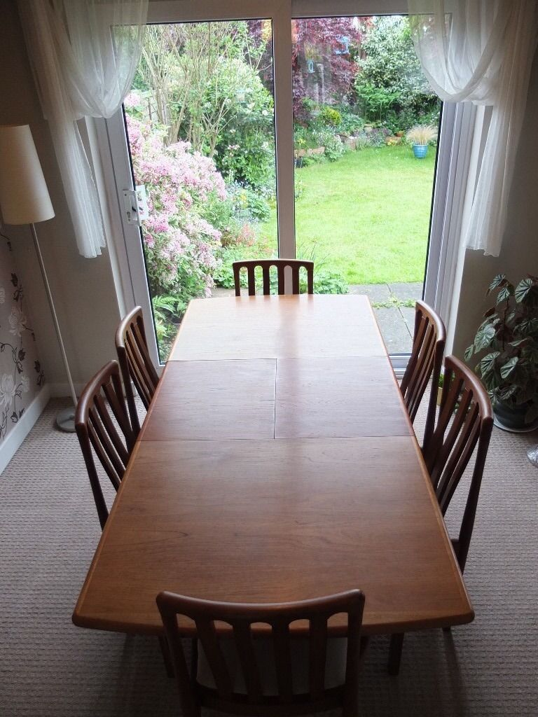 reduced dining table 6 chairs must sell mid century design teak