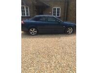 Beautiful Blue Saab convertible 9-3