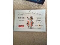 Star Wars Baby Oleg with blank certificate