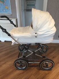 Babystyle Prestige Lux Pram with Chrome Chassis