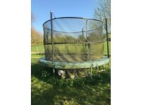 Jumpking 10ft Trampoline. Used, with some leaf debris on mat, but still in good working order.