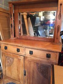 Arts and crafts dining room dresser .