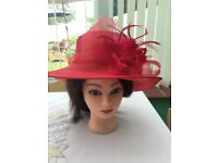 Occasion hat, red , immaculate condition