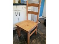 Four 'Corona' pine dining chairs