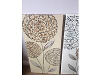 Pair of next canvases