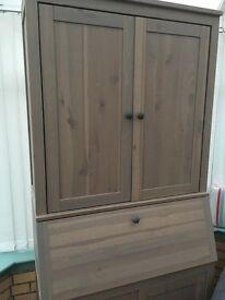 IKEA Desk bureau with add on storage cupboard. Cost £300 new. Excellent condition.