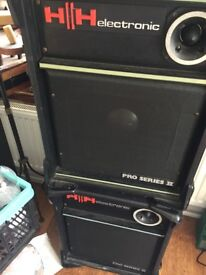 PA Speakers and Power Amp Combo
