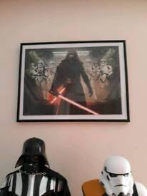 Star wars puzzle in frame