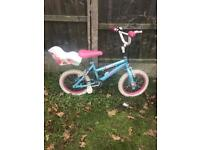 """GIRLS SWEET BUG 14"""" BIKE, fully working and good used condition, i sell new stabilisers £5"""