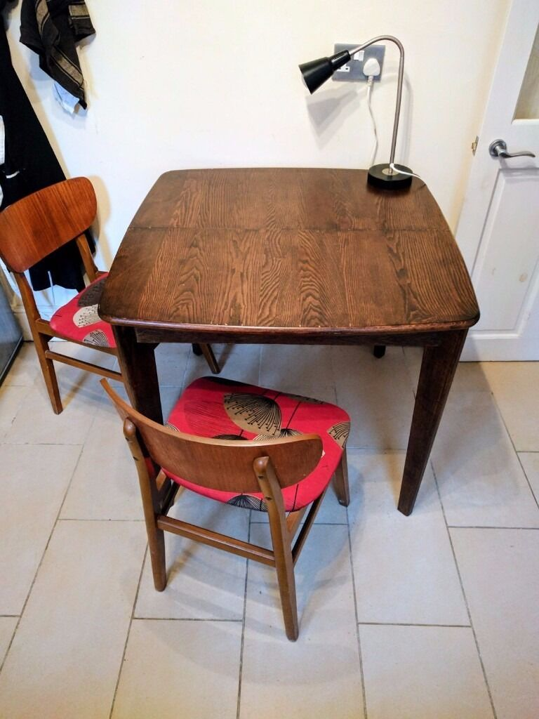 Monty extending dining table dark stain ash made com sits 4 6