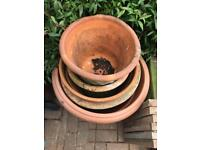 Plant pots various sizes - medium to very large
