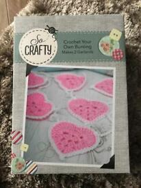 So Crafty crochet your own bunting, brand new unopened