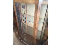 Vintage China Display Cabinet .