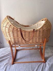 ⭐️Mothercare Moses basket and stand⭐️